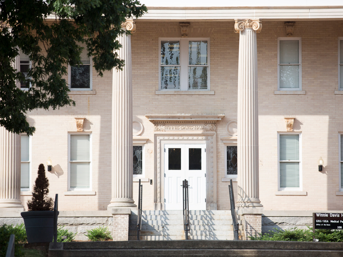 Photo of a historic building with columns